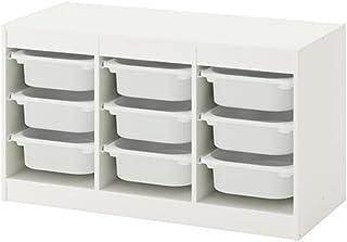 IKEA/イケア TROFAST:収納コンビネーション ボックス付き99x56 cm ホワイト/ホワイト (392.222.60)