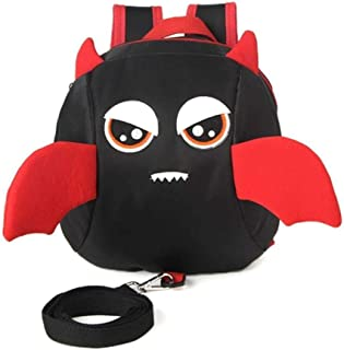Funny Large Capacity Cartoon Backpack Anti Zhaozb (Color : Black)