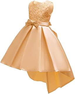 LUKEEXIN Trailing Princess Dress Girl Dresses Tulle Party Gowns Age 5-10 Years