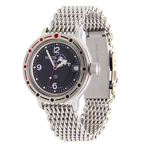 Vostok Amphibian K-42 Reloj Automatico 200WR Diver Shark Mesh (420634)