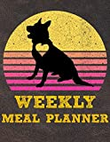Weekly Meal Planner: 8.5x11 Inches Menu Food Planner - 52 Week Meal Prep Book - Weekly Food Planner & Grocery Shopping List Notebook For German Shepherd Puppy Dog Owners and Lovers