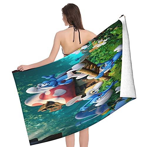 Die Schlümpfe Handtücher aus 100% Baumwolle 80x130cm dick weich und saugfähig Waschlappen Handtuch Badetuch Badetuch