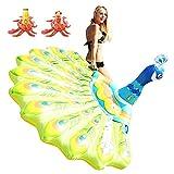 NXYX Paon Gonflable Flottant rangée de Lits gonflables Paon Montage Flottant rangée hamac canapé Chaise Longue Adulte Eau Jouets (Fila Flotante de Pavos Reales)