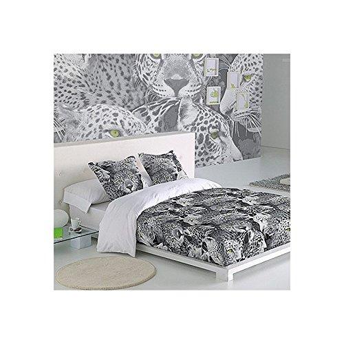 SABANALIA - Funda Nórdica Leo (Disponible en Varios tamaños y Colores) - Cama 200, Blanco/Negro