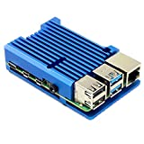 Raspberry Pi 4(Model B)用アルミヒートシンクケース (ブルー)