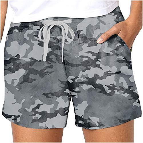 Womens Legging, Womens Plus Size Drawstring Casual Print Elastic Waist Pocket Loose Shorts Pants for Summer Holiday