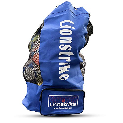 Lionstrike Football Rugby Sack Bag - holds up to 15 footballs soccer rugby...