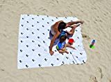 Bdsign -Toalla de Playa de Microfibra, Familiar, Gigante y Ultra Absorbente. (White, 188cm x188cm)
