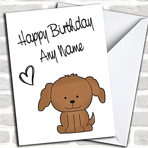 Leuke bruine Stick Hond Verjaardagskaart Met Envelop, Kan Volledig Gepersonaliseerd, Verzonden Snel & Gratis