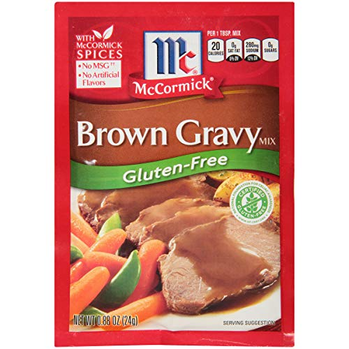 McCormick Gluten Free Brown Gravy Mix, 0.88 oz (Pack of 12)