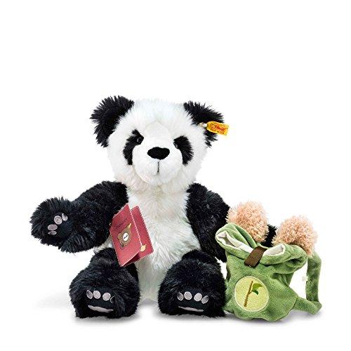 Steiff 22173 Teddyb.Lin Weltenbummler 34 WSS./schwarz Bär, Weiss