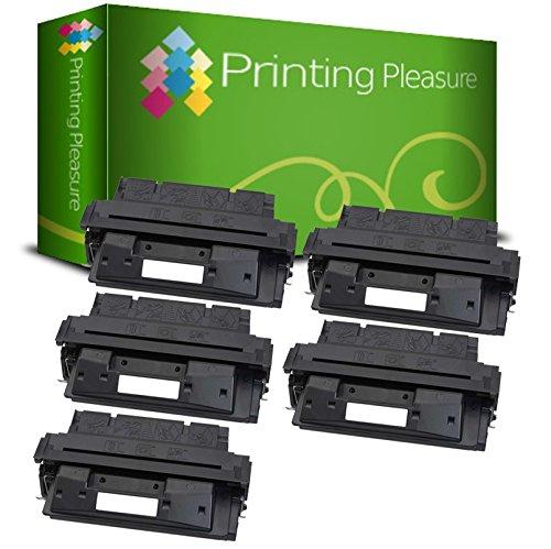 Printing Pleasure 5 Toner kompatibel zu C4127X 27X für HP Laserjet 4000 4000N 4000SE 4000T 4000TN 4050 4050N 4050SE 4050T 4050TN - Schwarz, hohe Kapazität