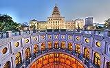 MX-XXUOUO Un Rompecabezas con el Tema de Las Atracciones turísticas mundiales:Austin,TX,EE. UU,Texas State Capitol Houses,Ciudades,Recuerdos Especiales de Viaje,1000 Piezas,29.5'x19.7'