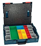 Bosch - L-BOXX-1A 17.5 In. x 14 In. x 4.5 In. Stackable Carrying Case with 13 pc. Insert Set