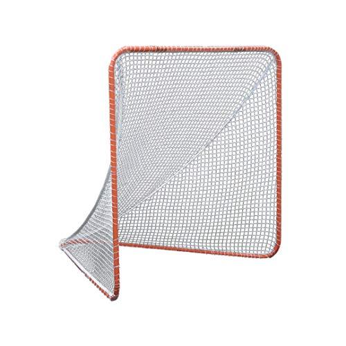 Gladiator Lacrosse Official Lacrosse Goal with a 6mm Net, Orange, 100% Steel Frame, 6 x 6-Foot, Standard, 72″ x 72″
