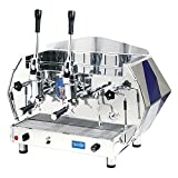 La Pavoni DIA 2L-B 2-Group Diamante Lever Espresso Coffee Machine, Sapphire Blue, 14L Boiler Water Capacity, Lever Piston Operation, 1 Hot Water Tap