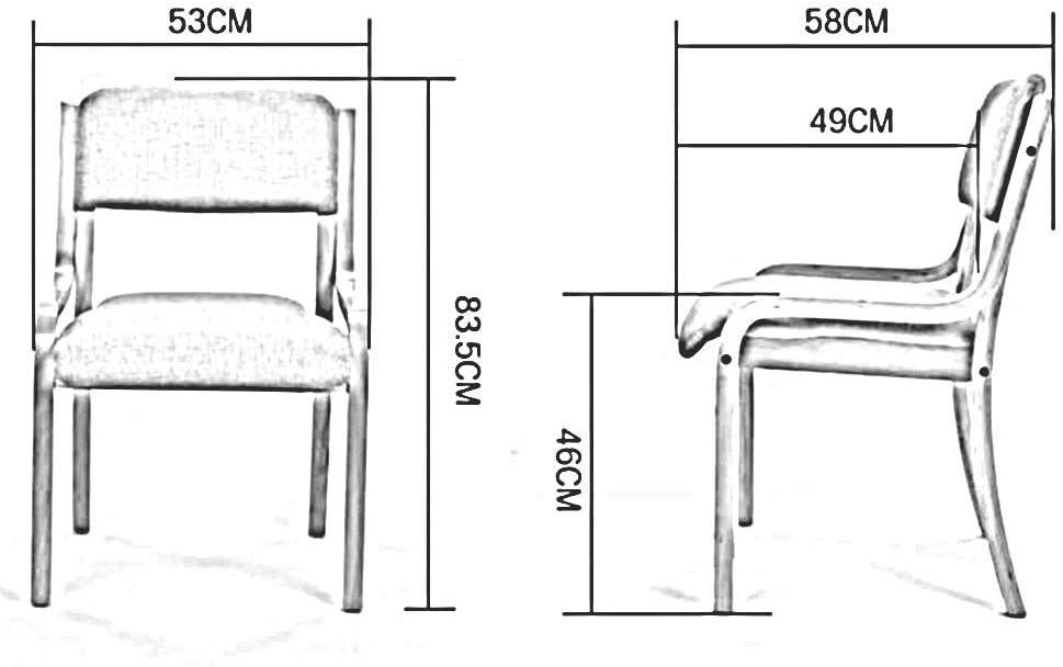 Dall Chaise De Salle À Manger Cadre en Bois Dossier Chaises De Table Empilable Chaise De Réception Décontractée Rembourrés Facile À Assembler (Color : T8) T6