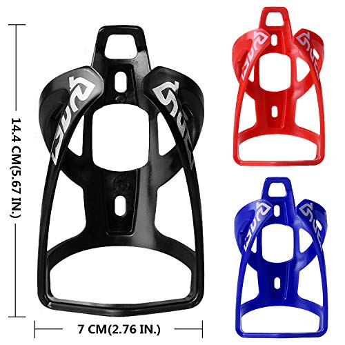 HASAGEI Bike Water Bottle Cage Lightweight Universal Bicycle Cycling Drink Cup Holders with Screws Accessory Part for Road, Mountain (Black-4-2pcs)