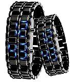 Domire - Orologio a LED digitale con cinturino in metallo No.10