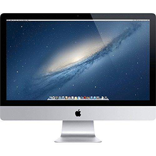 Apple iMac ME088LL/A Late 2013, Intel Core i5-4570 3.2GHz 16GB DDR3 RAM 1TB HDD storage - 27in, Silver (Renewed)