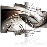 murando - Cuadro en Lienzo Abstracto Moderno 200x100 cm Impresión de 5 Piezas Material Tejido no Tejido Impresión Artística Imagen Gráfica Decoracion de Pared a-A-0174-b-n