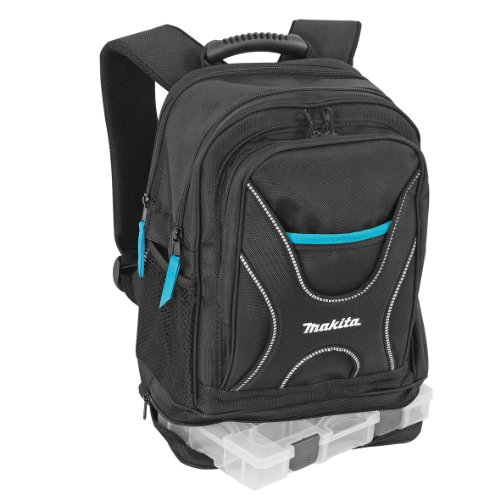 Aparoli Makita P-72017 Backpack for Tools and Travel with Small Item Organiser Black Large