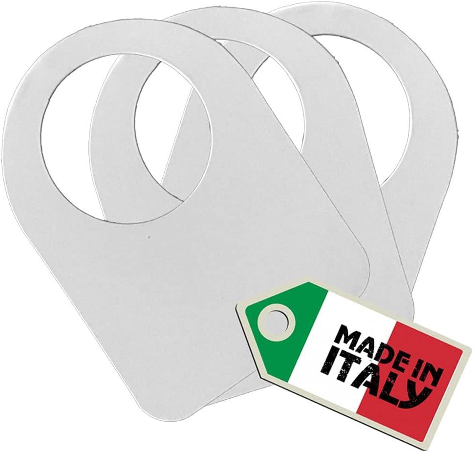 Euposia Etiquetas de bodega – Collares para identificación de botellas de vino – Paquete de 100 unidades – por (blanco_100 unidades)