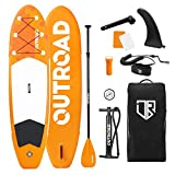 Max4out Inflatable Stand Up Paddle Board 10ft6inx32inx6in with Premium SUP Accessories & Backpack, Non-Slip Deck | Youth & Adult,Orange