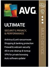 AVG Ultimate [Security, Privacy and Performance] 2020, 3 Devices / 1 Year [Key Card] Also available for Download!