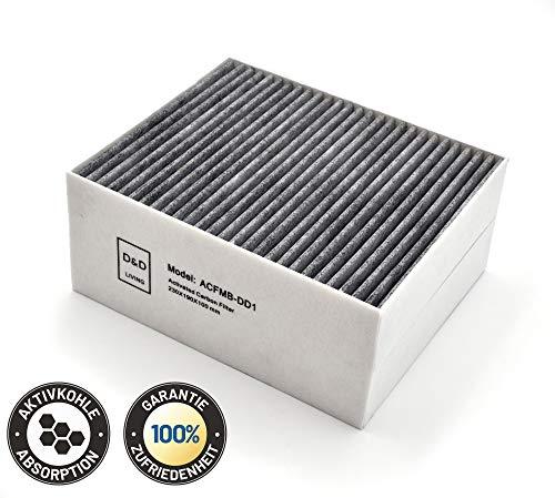 Aktivkohlefilter CleanAir für Dunstabzugshauben von Bosch Siemens Neff 100mm | Hochwertige Ersatz-Filter von D&D Living