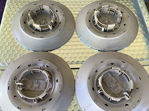 AUDI Genuine Avus Silver Wheel Center Hub Caps 16