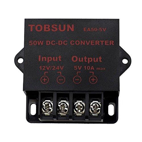 EPBOWPT DC 12V 24V to DC 5V 10A, 5V 5A,12V 5A, 10A Power ConverterPower Adapter (12/24V to 5V 10A, 12/24V to 5V 10A Converter)