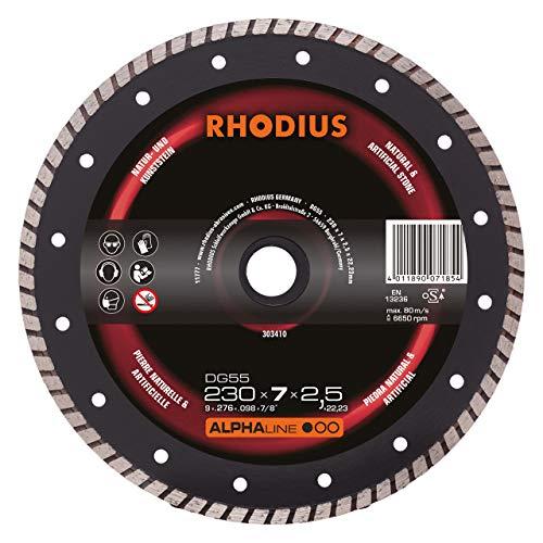 Preisvergleich Produktbild RHODIUS Diamanttrennscheibe Naturstein DG55 Ø 230 mm 1 Stück