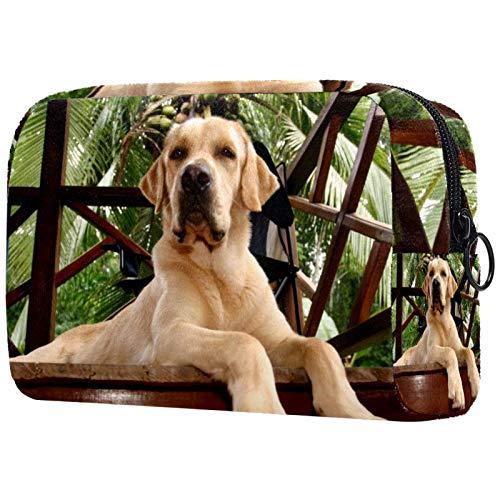 Bolsas de Aseo Perro Animal Lindo Hombres y Mujeres Bolsa de Almacenamiento de Viaje Suave al Tacto de Impresa Personalizada 18.5x7.5x13cm