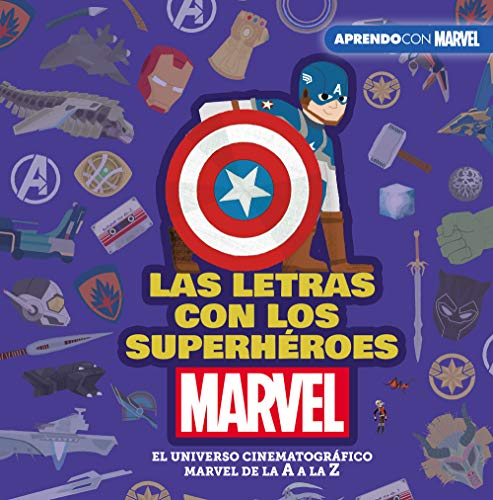 Las letras con los superhéroes Marvel