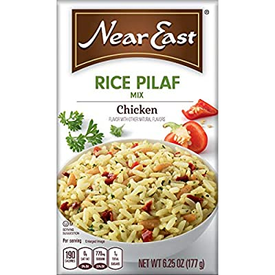 Near East Rice Pilaf Mix, Chicken,6.25 Ounce (Pack of 12 Boxes)