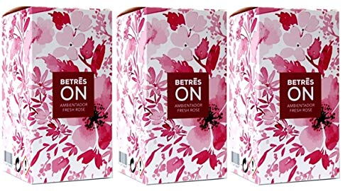 Betres On 90ml. Pack 3 Un, Ambientador Fresh Rose.