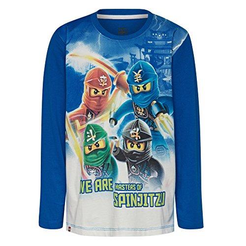 LEGO Wear Jungen Lego Ninjago M-72641-Langarmshirt, Mehrfarbig (Blue 541), 128