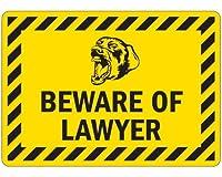 ///BEWARE OF LAWYER///マグネットサイン 日常防水 紫外線95%カット U.S.A Design
