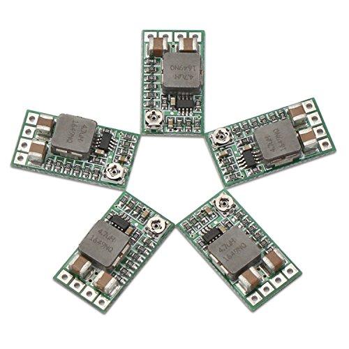 Droking Regulador 5v, 5pcs Mini Reductor de Voltaje DC 4.5-24V 12V 24V Reduzca a 5V Buck Converter Board 3A Volt Reduzca el módulo de Fuente de alimentación del Transformador