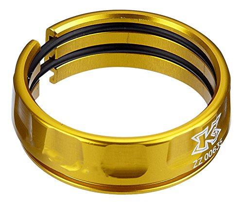 3er Set KCNC Sattelstützen Ring Rutsch Schutz 30,9/34,9 mm - Gold Aluminium