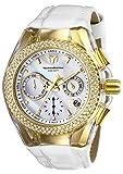 Technomarine Women's Cruise Valentine Stainless Steel Quartz Watch with Leather Strap, White, 26 (Model: TM-117046)