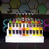Espositore Per Bottiglie Di Liquore Illuminato a LED, Scaffale Per Vino Luminoso a 3 Livelli RGB Colorato Variabile Con Telecomando, Ripiano Per Liquori Illuminato Per KTV Party Bar