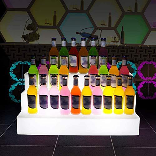 BAIHAO Estante de Vino Luminoso LED Estante de Botella de Ba