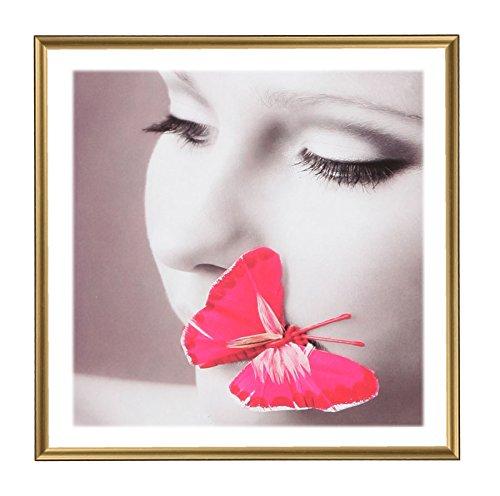 Photo Style Bilderrahmen 20x20 30x30 40x40 50x50 quadratisch Foto Rahmen: Farbe: Gold | Format: 40x40