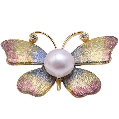 jyx Dreamy 12 mm weiß Pearl butterfly Brosche pins brosche weihnachten