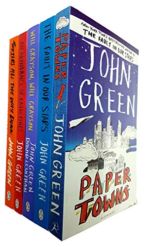 John Green 5 Books Collection Set (Paper Towns, The Fault in Our Stars,Will Grayson, Will Grayson, An Abundance of Katherines, Turtles All the Way Down)