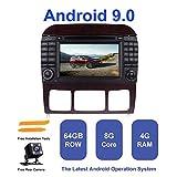 Android Autoradio Stereo, ZLTOOPAI für Mercedes Benz S-Klasse W220 W215 S280 S320 S350 S500 Android 9,0 Octa Core 4G RAM 64G ROM 7 Zoll Kapazitiver HD Screen Doppel-Din In Dash Auto Stereo...