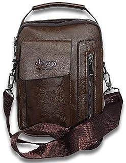 Jeep buluo Leather Crossbody, Shouder and Handbag bag for Men dark brown - 2725466013668