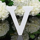 Decorativo Legno Lettere, Appeso Parete 26 Lettere Legno Alfabeto Parete Lettera per Camera Matrimonio Compleanno Partito Casa Decor, Gspirit (V)